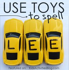 A great spelling idea for kinisthetic learners.