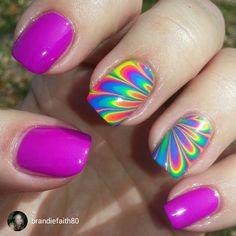 repost via @instarepost20 from @brandiefaith80 #MyLeftHand #NOTD #Mani #Pedal #WaterMarble #Bright #Neon #Nails #NailArt #NailsToInspire #NailJunkie #PipeDreamPolish #gggnails#instarepost20 www.pipedreampolish.com