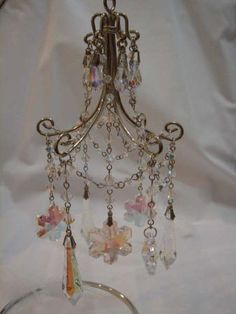 How to make a miniature chandelier (做一個專屬自己的迷你華麗吊燈) | Big Head Cat's Hideout =^ 大頭貓的海島 ^=
