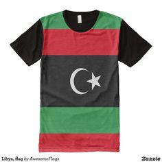 Libya, flag All-Over print T-Shirt