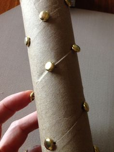 How to make a rain stick with brass fasteners & paper towel rolls - https://oblockbooksblog.wordpress.com/2015/04/20/how-to-make-a-rainstick-with-brass-fasteners-paper-towel-roll/
