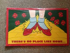 """Wizard Of Oz Doormat There's No Place Like Home New 15""""x25"""""""