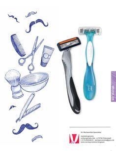 Rasierer, Shaver als Werbemittel von BiC in individuell bedruckter Box oder Hülle