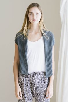 may cardigan designed by bristol ivy / from the piper 2016 collection by the quince & co. design team / in quince & co. piper