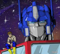 Spike & Optimus Prime