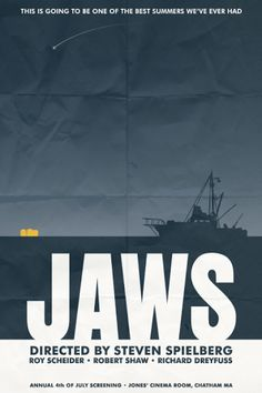 Jaws Movie Poster.........