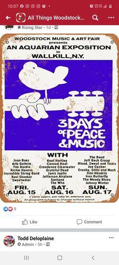 Jeff Beck Group, Woodstock Music, Joan Baez, Happy Hippie