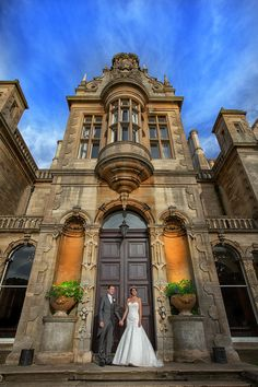 Rebecca and Eric at Stoke Rochford Hall by Crash Taylor