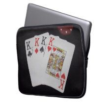 Poker_King_Quads_Protective_13_Inch_Laptop_Sleeve. Computer Sleeves