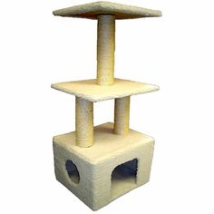 Majestic 40 Inch Bungalow Cat Tree -- Don't get left behind, see this great cat product : Cat Tree