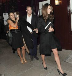 After a tough day apart at different ends of the country Kate and William partied with friends at the exclusive Loulou's in Mayfair until midnight last night. October 10, 2012