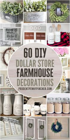 Dollar Tree Decor, Dollar Tree Crafts, Dollar Tree Cricut, Do It Yourself Inspiration, Country Farmhouse Decor, Farmhouse Ideas, Country Crafts, Farmhouse Decor Bathroom, Farmhouse Kitchen Diy