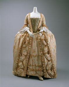 Robe à la Française ca. 1775-1800 via The Costume...