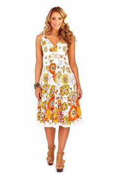 Mid Length Sundresses   WOMENS SUNDRESS MID LENGTH V NECK SUMMER DRESS LADIES COTTON FLOWER ... http://www.amazon.co.uk/WOMENS-SUNDRESS-LENGTH-SUMMER-LADIES/dp/B008JYGP1M