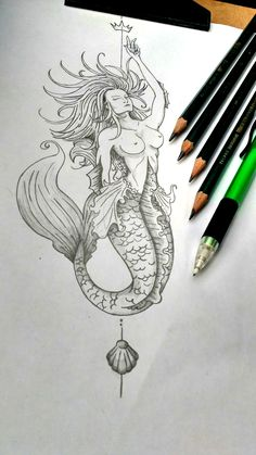 - The Effective Pictures We Offer You About tattoo antebrazo A quality picture can tell you many thi - Mermaid Tattoo Designs, Mermaid Drawings, Sexy Drawings, Mermaid Tattoos, Pencil Art Drawings, Mermaid Art, Art Drawings Sketches, Tattoo Drawings, Bild Tattoos