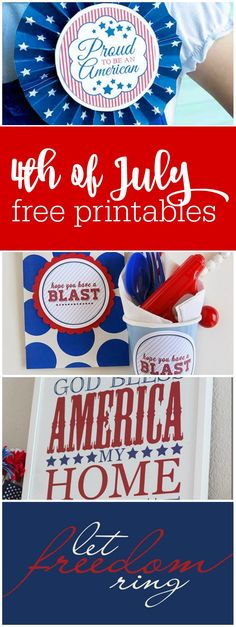 of July Free Printables to Make Your Party Pop! Party Printables, Free Printables, 4th Of July Party, July 4th, Teacher Party, Party Pops, Independence Day, Party Planning, Friday