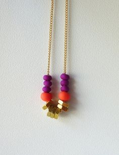 Maurice & King: Etsy Scout: Fuschia & Gold