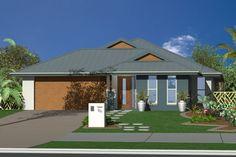 GJ Gardner Home Designs: Redland Bay - Facade Option 1. Visit www.localbuilders.com.au to find your ideal home design in Australian Capitol Territory