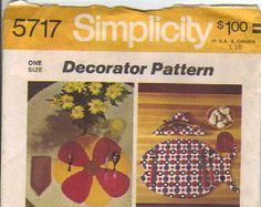 Check out Pattern, Place Mat and Napkin,Home Decor Sewing Pattern Simplicity 5717 Sewing Crafts Patterns on attictreasuresbyjudy