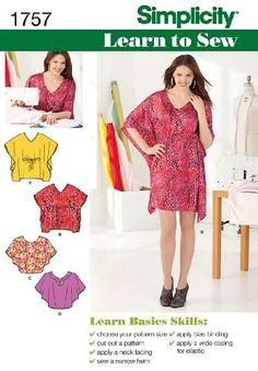 Simplicity 1757 Misses' Learn to Sew Mini Dress & Top Simplicity Creative Group Inc - Patterns http://www.amazon.com/dp/B009D02VK0/ref=cm_sw_r_pi_dp_dxQexb0XCSS7P