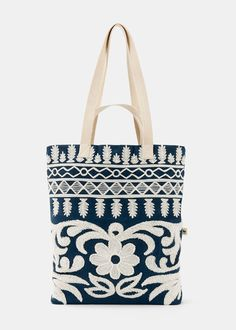 Organic Cotton Flora Embroidered Tote | Rodale's