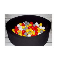 Bällebad rund in verschiedenen Farben ins. 200 Bälle