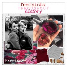 """""""feminists thought history"""" by warrior-girls ❤ liked on Polyvore featuring art and tipsbyjez"""
