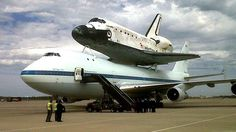 Space shuttle Discovery, prior to its final flight to the Smithsonian museum.