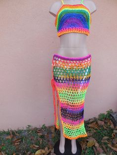 Excited to share this item from my shop: Crochet Mandala Rainbows Gypsy style Beach skirt cover Bikini Beach SWIMWEAR Crochet Monokini, Crochet Bikini Bottoms, Crochet Fabric, Crochet Mandala, Diy Crochet Gifts, Fendi, Beach Pink, Crochet Bathing Suits, Hippie Crochet