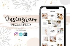 Beautiful logos, web design kits and watercolors by SwitzerShop Social Media Branding, Social Media Icons, Social Media Template, Social Media Design, Canva Instagram, Instagram Tips, Instagram Feed, Instagram Templates, Image Font