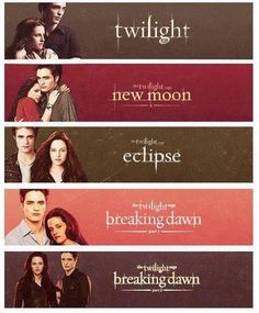 All 5 Twilight Movie Banners! :)