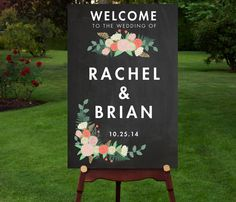 PRINTABLE  Large Modern Chalkboard Wedding by RememberNovemberInc