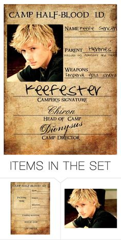 """Keefe Sencen Camp Halfblood I.D"" by charmalfoy on Polyvore featuring art"