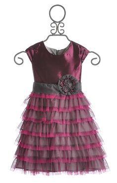 Isobella and Chloe Purple Opal Cap Sleeve Dress for Girls