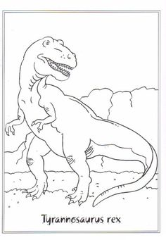 T Rex Coloring Pages To Print from Animal Coloring Pages category. Printable coloring pictures for kids you could print out and color. Check out our series and print out the coloring pictures free of charge. Dinosaur Coloring Pages, Cool Coloring Pages, Animal Coloring Pages, Free Printable Coloring Pages, Free Coloring, Coloring Pages For Kids, Coloring Books, Dinosaur Pattern, Dinosaur Art
