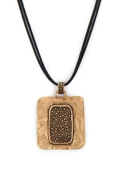 Sarah Golden Square Pendant Necklace - View All JewelryChristopher & Banks | Christopher and Banks