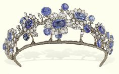 Tiara by Cartier Even just a glance at the website (never mind the photo!) would have revealed at least that this is a sapphire and diamond piece, and not likely to have been made in the Tiara from the Barberini parure, c. Royal Crowns, Royal Tiaras, Tiaras And Crowns, Diamond Tiara, Diamond Cuts, Sapphire Diamond, Diamond Flower, Blue Sapphire, Royal Jewelry