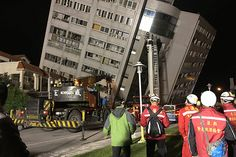 02/06/2018 - Taiwan 6.4 earthquake collapses buildings killing at least 2, injuring over 140