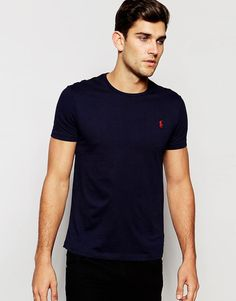 Polo+Ralph+Lauren+Plain+Crew+Neck+T-shirt