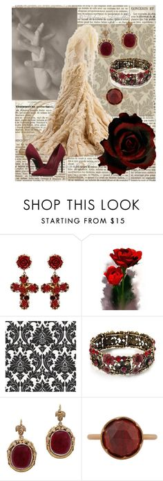 """Crimson Peak"" by searwyntelemnar ❤ liked on Polyvore featuring Dolce&Gabbana, Graham & Brown, Alexander McQueen, Irene Neuwirth, Schutz, tomhiddleston, CrimsonPeak and GuillermoDelToro"