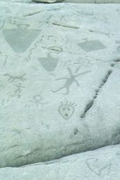 Peterborough Petroglyphs - Ontario, Canada    The Peterborough Petroglyphs are a collection of over 900 ancient images carved into crystalline limestone.