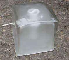 1980s RETRO Frosted Glass ICE CUBE LIGHT