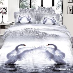 Cheap duvet cover set, Buy Quality king size directly from China bedding set Suppliers: Animal Housse De Couette Bed Sheet Romantic Swan Print 7 Pcs Bedding Sets Queen Super King Size Duvet Cover Set Pillowcase Bed Comforter Sets, Cheap Bedding Sets, Cotton Bedding Sets, Comforter Cover, Queen Bedding Sets, Queen Size Bed Covers, Animal Print Bedding, Cheap Bed Linen, Queen Size Quilt