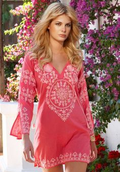 Pink summery Moroccan inspired dress