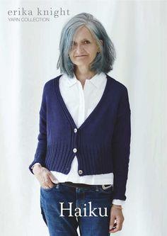 Erika Knight Haiku Cardigan Knitting Pattern