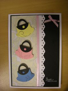 cards made with stamp in up punches | Crafty Susy: Stampin' up round tab punch handbag card