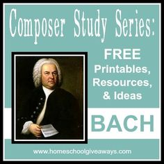 Composer Study Series: FREE Printables, Resources and Ideas on Bach Music Lessons For Kids, Music Lesson Plans, Piano Lessons, Kids Music, Sebastian Bach, Music Education, Physical Education, Health Education, Party