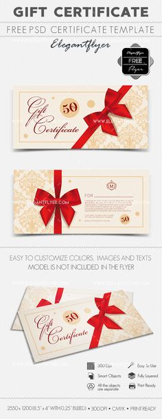 Present Voucher Template Techno Store  Free Gift Certificate Psd Template  Free Gift .