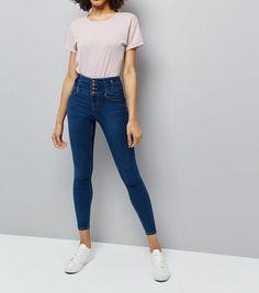 c02e3b4d5b12 Blue High Waist Skinny Yazmin Jeans