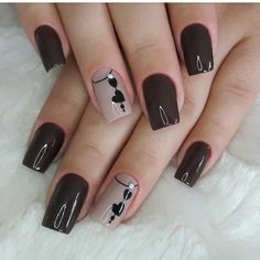 The advantage of the gel is that it allows you to enjoy your French manicure for a long time. There are four different ways to make a French manicure on gel nails. Stylish Nails, Trendy Nails, Cute Nails, Gel Nail Art, Gel Nails, Nail Polish, Nail Nail, Dark Nails, Pink Nail